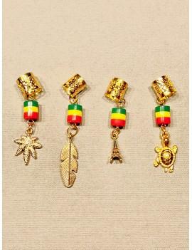 Bijoux anneaux dorés rasta