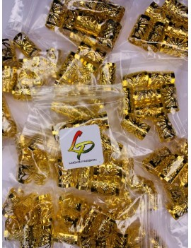 Bagues dorées x 8