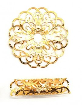 Anneaux gold x 2