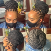 𝔹𝕖𝕒𝕦𝕥𝕚𝕗𝕦𝕝 ℙ𝕣𝕚𝕟𝕔𝕖𝕤𝕤 & 𝕙𝕖𝕣 𝕕𝕠𝕟𝕦𝕥 𝕓𝕦𝕟 🍩😍 #loveyourlocs #longlocs #nappy #naturalhaircommunity #natural #womenwithlocks #blackdontcrack #dreads #dreadgirl #dreadlocks #locs #locks #locsrock #locstyles #voiceofhair #womanwithlocs #dreadlocs #hairstyle #hairbun #naturalrootsista #longlocstyles #donutbun